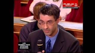 David Mourey et ses élèves lors d'un débat dans l'Hémicycle du Sénat le 24 novembre 2007