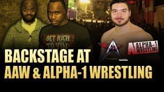 backstage at aaw alpha 1 wrestling