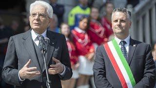 Intervento del Presidente Mattarella a Venzone 40° ann. terremoto Friuli
