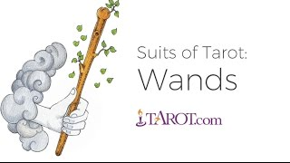 The Tarot suit of Wands -- sometimes called Rods, Staves, or Staffs...