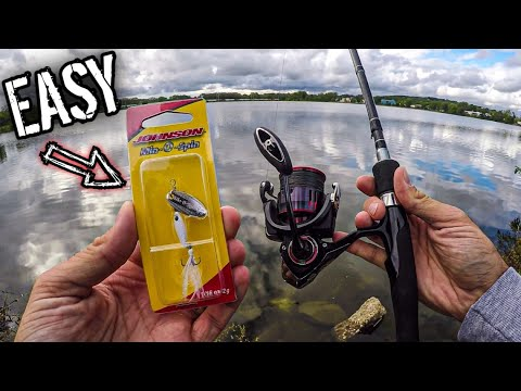 Bank Fishing With A Johnson Min-O-Spin | Easy Lures For Beginner Fishing