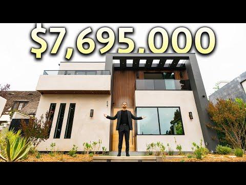 Inside a $7,695,000 SANTA MONICA Home with a Glass Infinity Edge Pool
