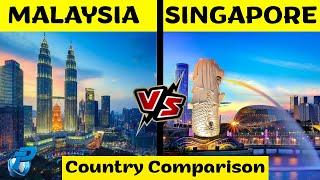 Malaysia VS Singapore | Country Comparison | मलेशिया VS सिंगापूर | Placify