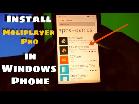 How To Install Moliplayer Pro In Windows Phone (MKV Video Player)