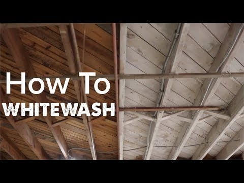 How To Do Whitewash (effect with paint)