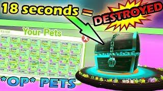 DESTROYING ERIE IL GRANDE CHEST IN 18 SECONDI - Roblox Pet simulatore