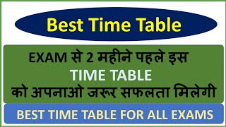 Best Time Table To Crack Any Exam Like. RPF,SSC,RRB,POLICE,VYAPAM,TET