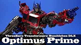 DLX Optimus Prime Transformers Bumblebee Movie ThreeZero ThreeA Action Figure Review