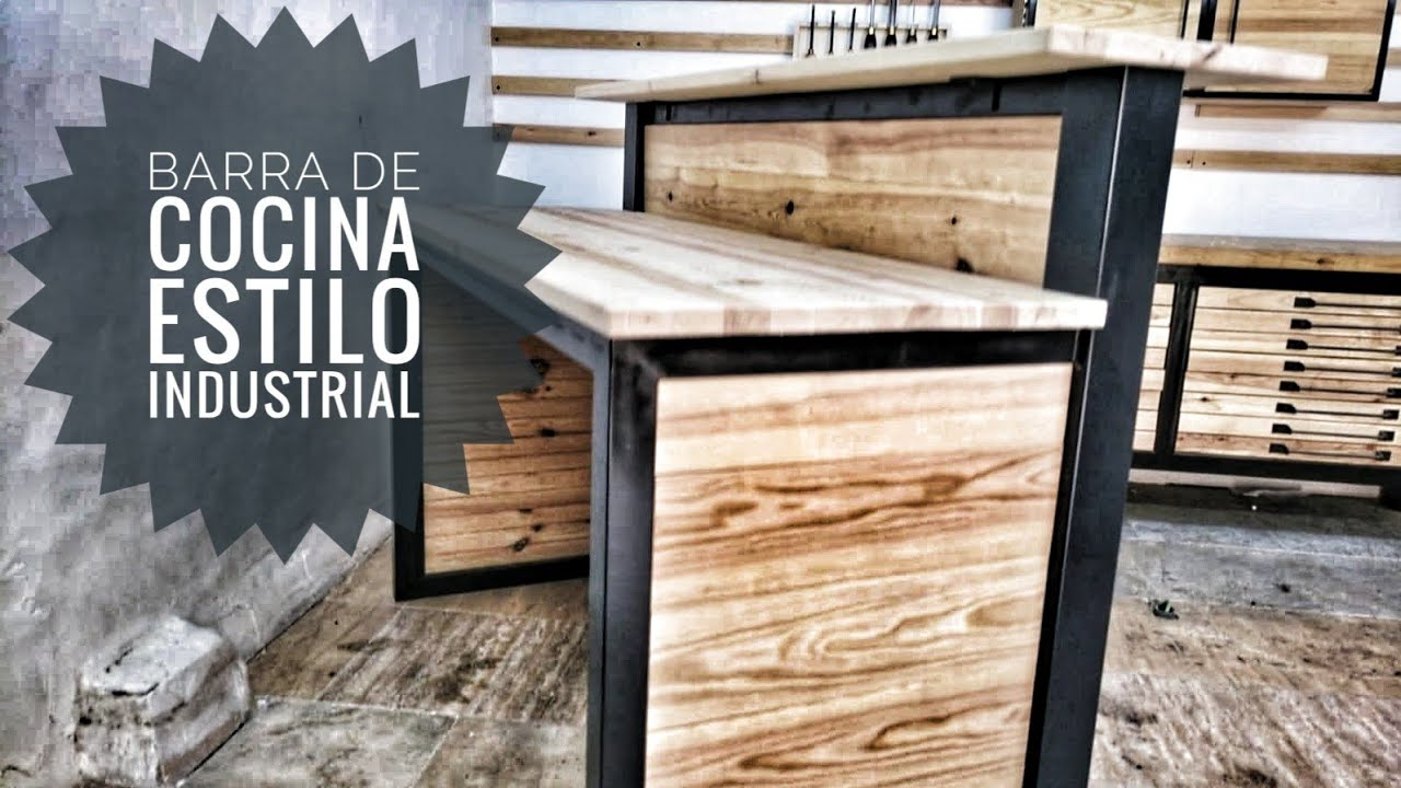 Barra De Cocina Estilo Industrial Youtube