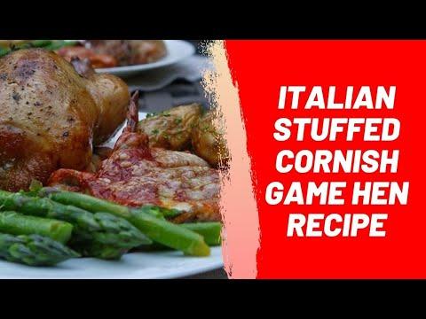 Italian Stuffed Cornish Game Hen Recipe