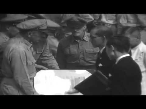 Surrender of Japan 1945  on Sept. 2, 1945