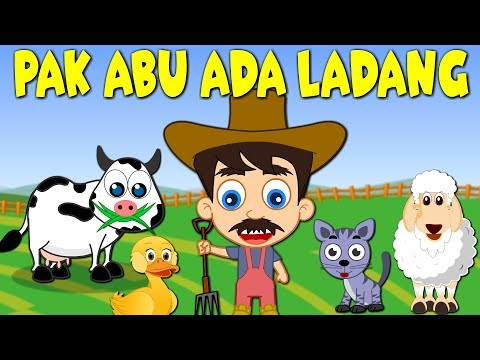 Lagu Kanak Kanak Melayu Malaysia | PAK ABU ADA LADANG - OLD MACDONALD HAD A FARM in MALAY
