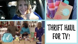 Thrift Clothing Haul & Being on TV!