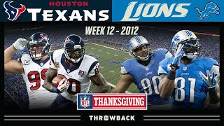 Controversial Thanksgiving Classic! (Texans vs. Lions 2012, Week 12)