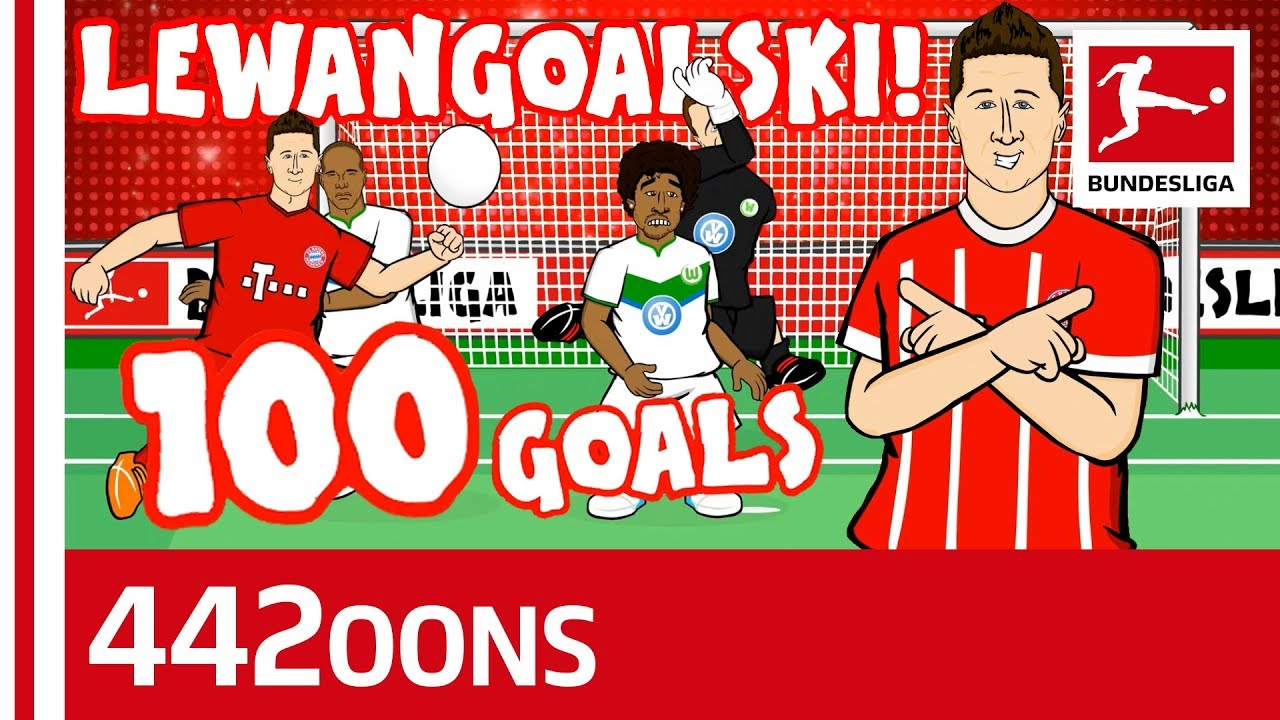 lewandowski s 100th goal for bayern song powered by 442oons youtube