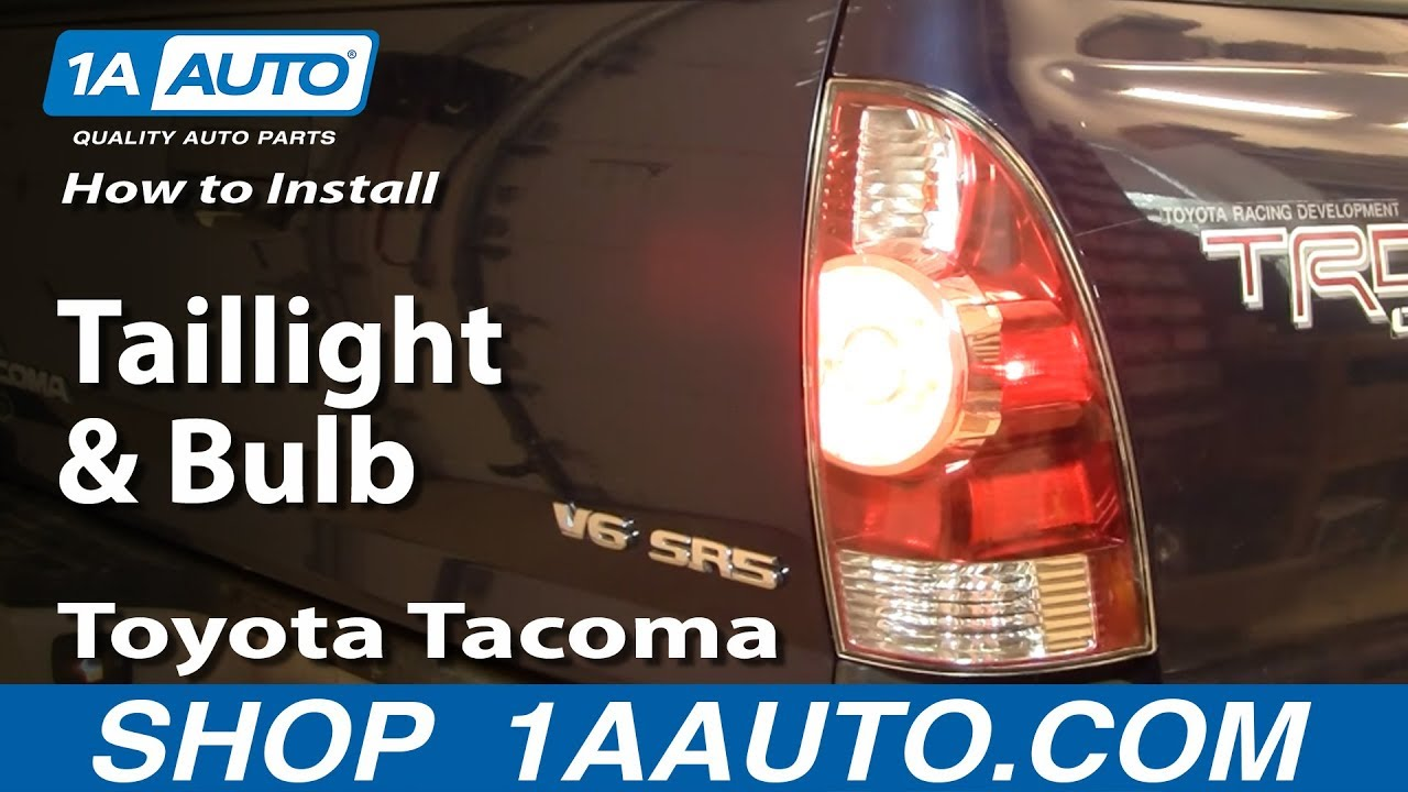How To Replace Taillights And Bulbs 05 12 Toyota Tacoma