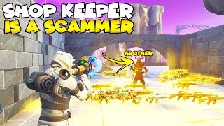 Shop Keeper Brother Scams Me EXPOSED! 😱 (Scammer Gets Scammed) Fortnite Save The World