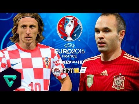 Croatia vs. Spain | UEFA Euro 2016 Simulation | FIFA 16