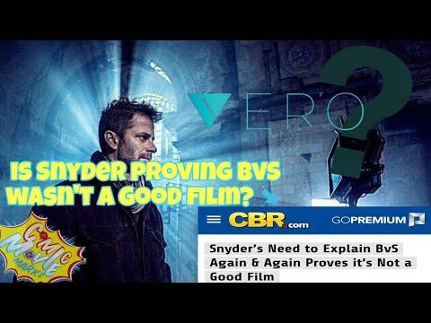 Zack Snyder Explaining BvS Means Its a Bad Film?