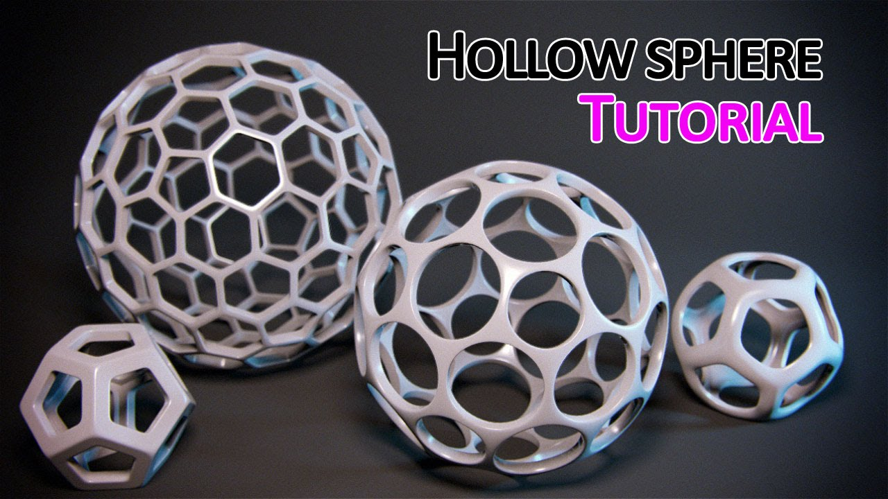 tutorial - quickly create a hollow sphere in 3ds max