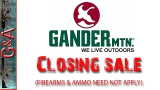 Gander Mountain Closing Sale