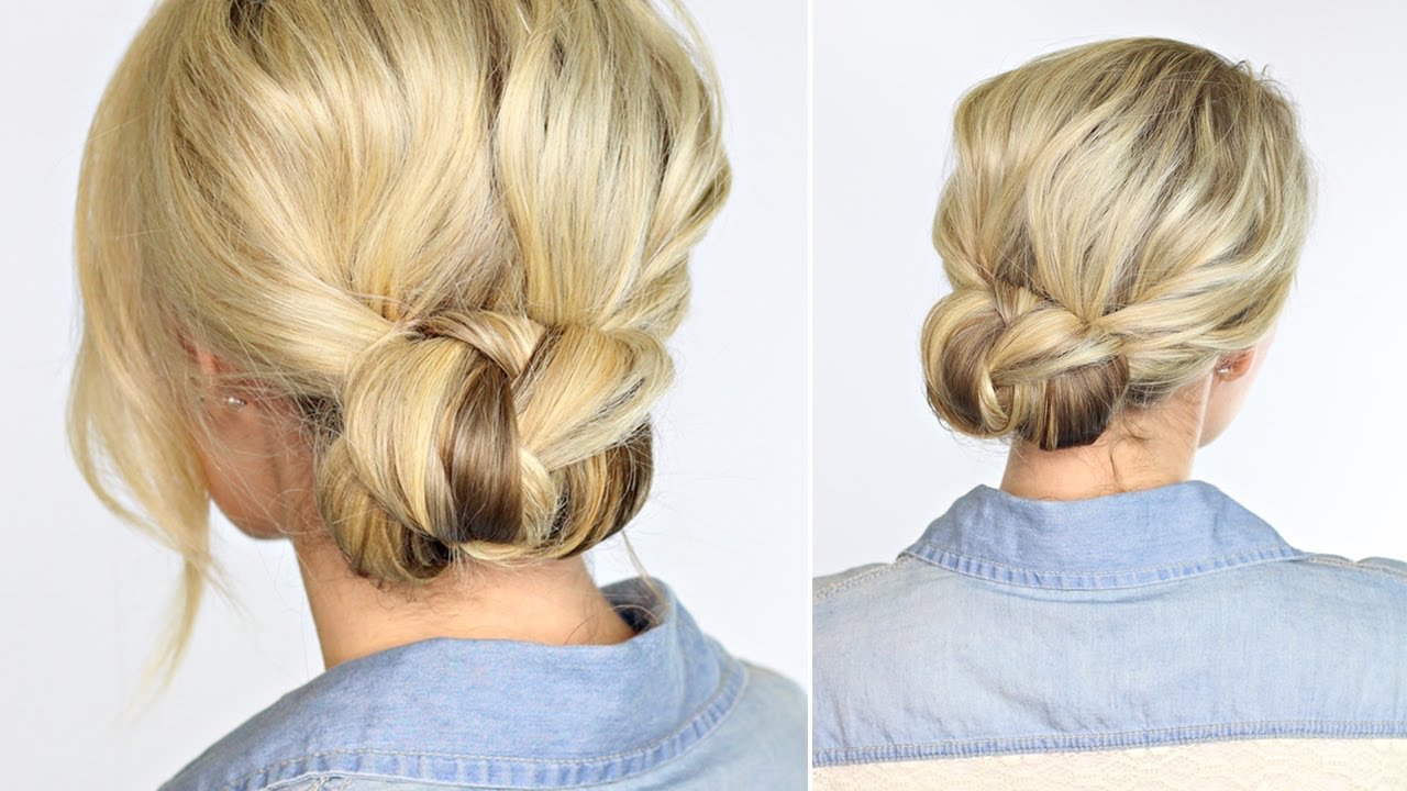 Beautiful Braided Bun Takes Less Than 2 Minutes Youtube Braided Hairstyles Updo Side Bun Hairstyles Braided Hairstyles Easy