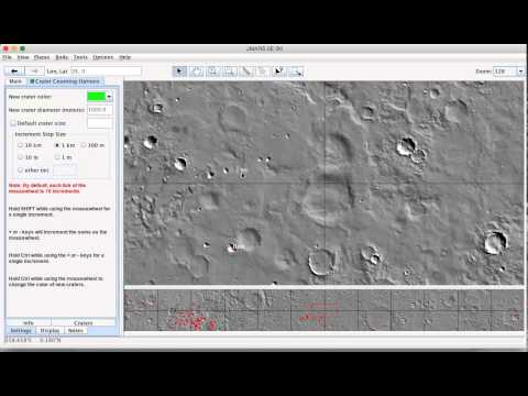 Overview of JMARS crater counting lab