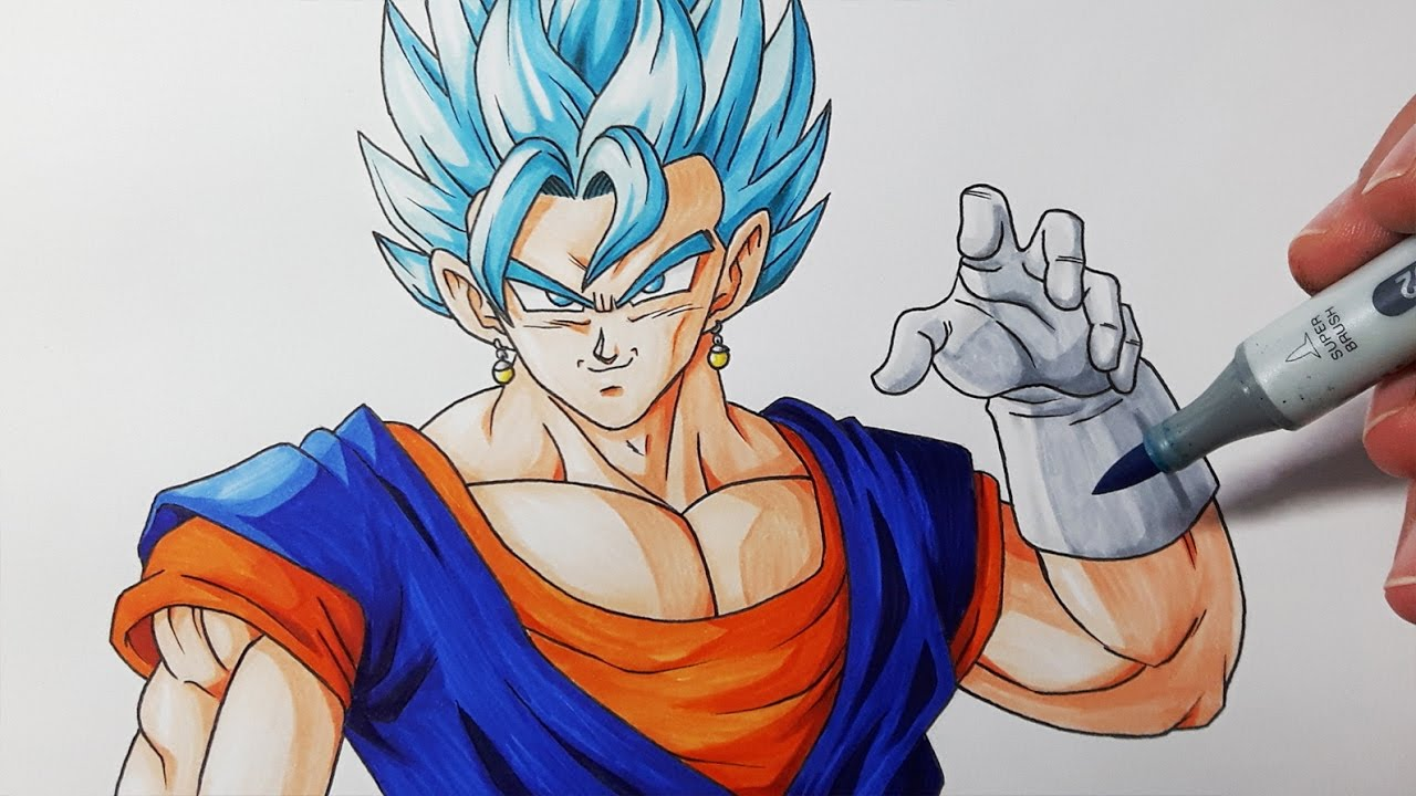 How To Draw Vegito Super Saiyan Blue  Step By Step Tutorial