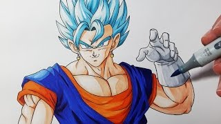 How To Draw Vegito Super Saiyan BLUE  - Step By Step Tutorial
