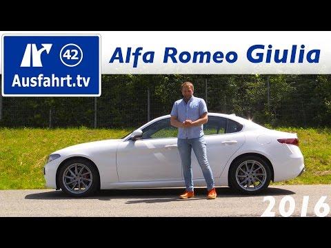 2016 Alfa Romeo Giulia Super - Fahrbericht der Probefahrt, Test, Review Ausfahrt.tv