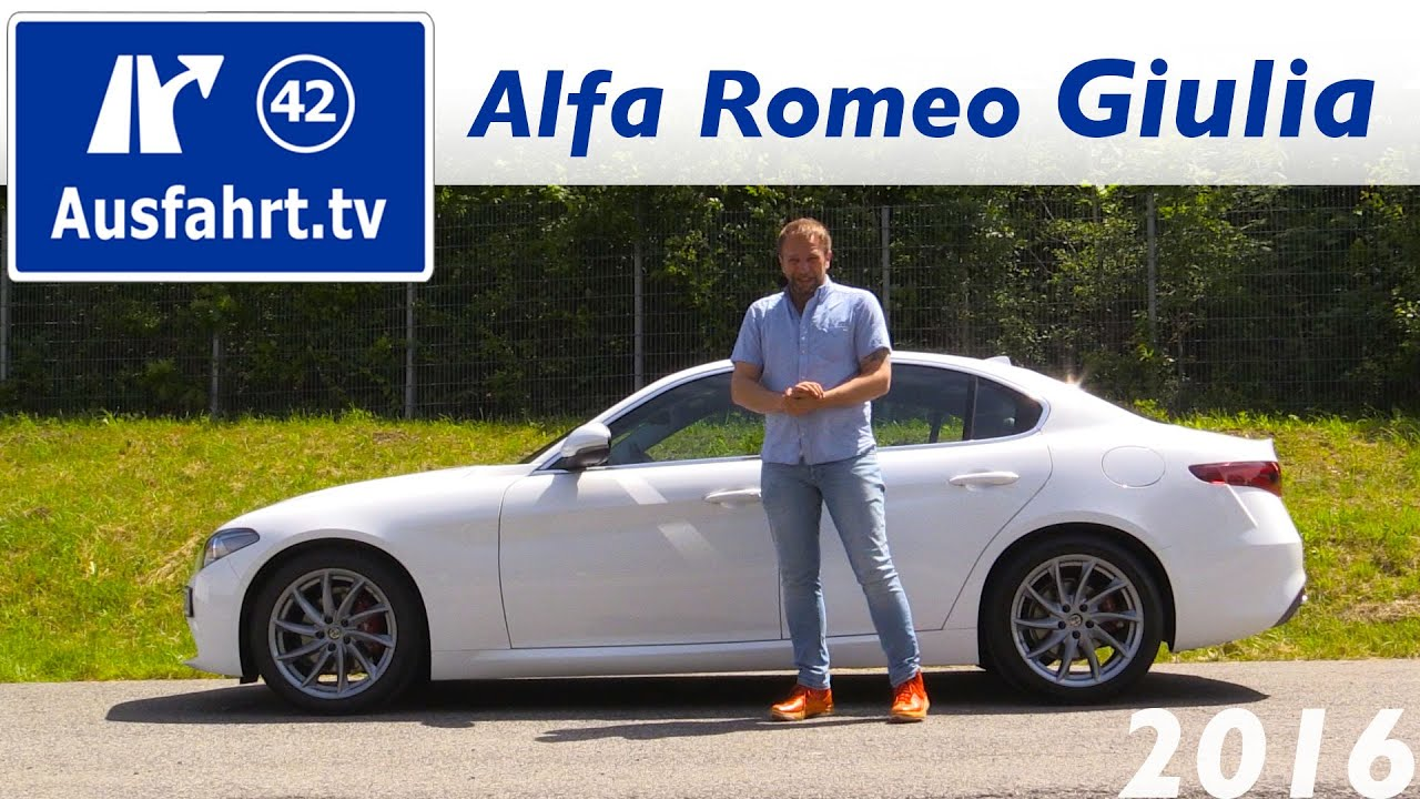 2016 Alfa Romeo Giulia Super Fahrbericht der Probefahrt Test