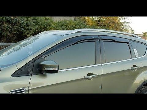 Аксессуары для Ford Kuga 2. Накладки под фары и ветровики