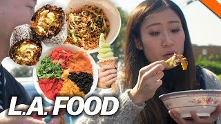 EPIC FOOD CRAWL ACROSS LOS ANGELES (Korean, Chinese, Thai) ft. Leenda D // Fung Bros Food