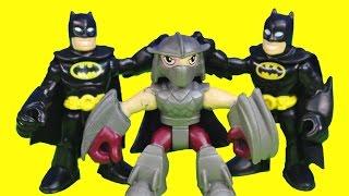 Shredder Turns Into Imaginext Batman Tries to Capture Teenage Mutant Ninja TMNT Just4fun290