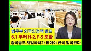 6월 1일부터 장기체류 등록외국인도 한국에 입국하려면 …