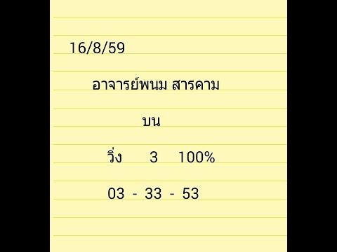 หวยไทยรัฐ งวด 1/09/59,,งวดนี้มาแล้ว