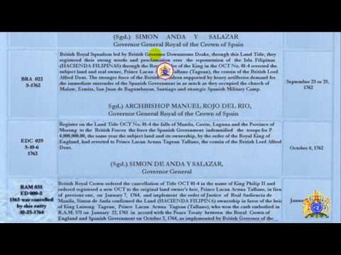 Hacienda Filipina OCT. T-01-4 Annotations as RECORDED at LRC