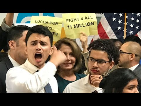 PELOSI SHOUTED DOWN:  Demonstrators shout down Rep. Nancy Pelosi at DREAM Act news conference