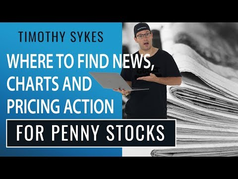 Where To Find News, Charts and Pricing Action for Penny Stocks
