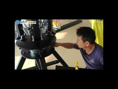 Install Video of the 6 Color 6 Station Screen Printing Machine