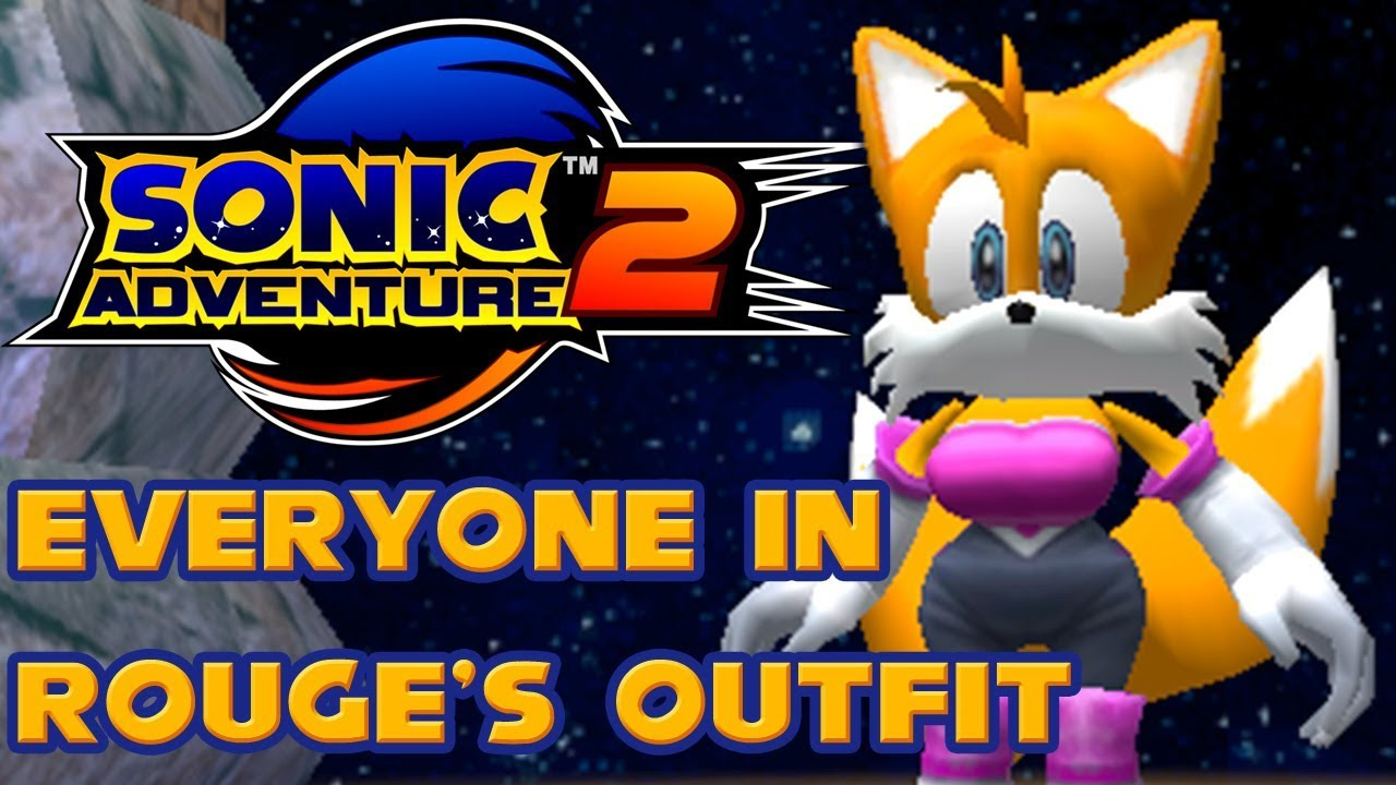 Sonic Adventure 2 - Everyone in Rouge's Outfit