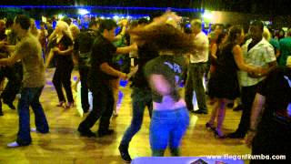 Nery Garcia and Giana Montoya Salsa Dancing at BTS Social in Miami