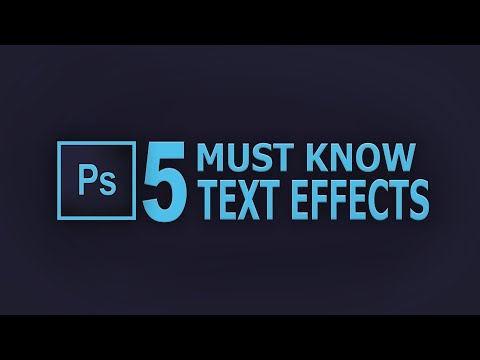 5 must know easy TEXT effects - Photoshop Tutorial