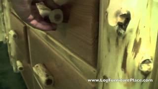 Cottage 7 Drawer Log Dresser | Log Dressers & Cabin Furniture From Jhe's