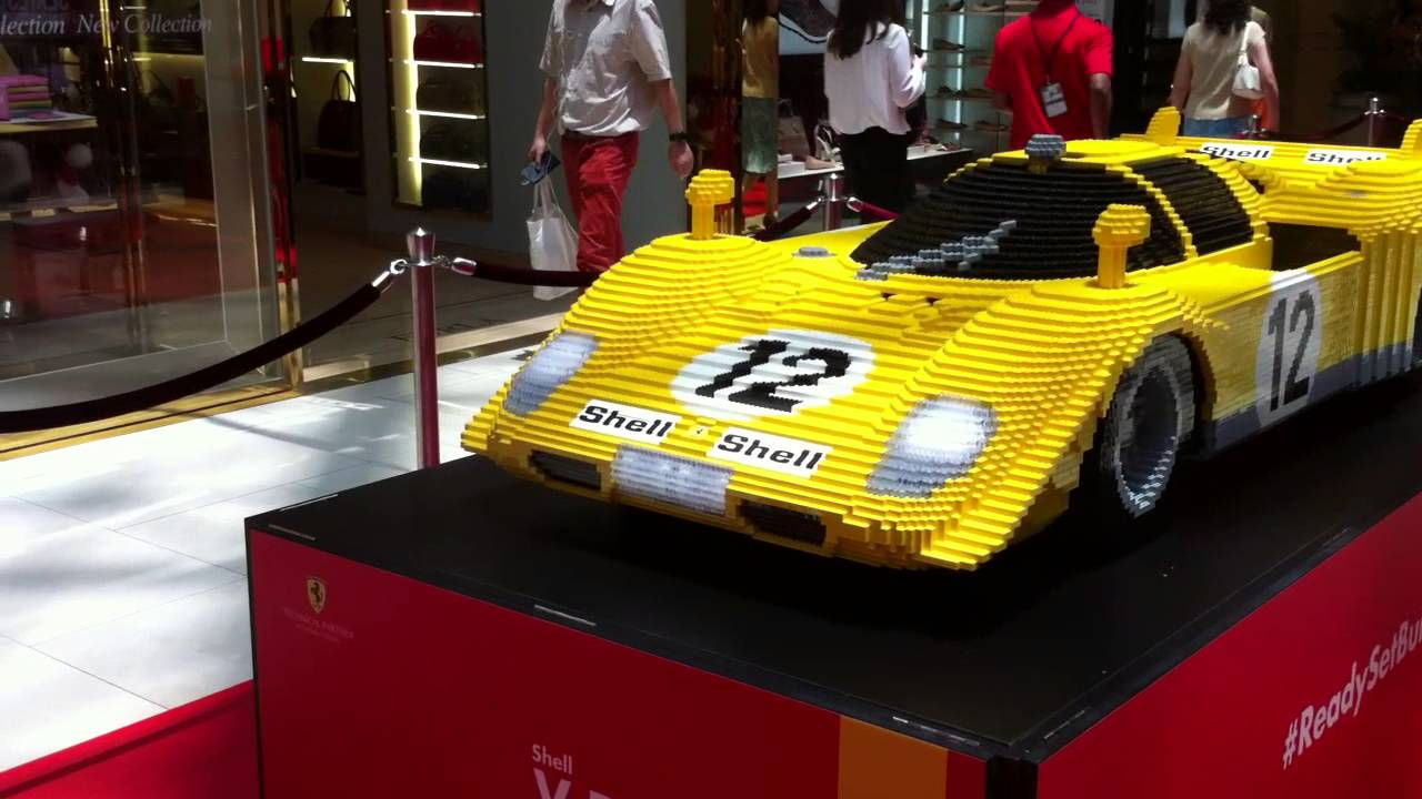 Real Size F1 Cars Made With Lego !! So Cool !!