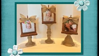 DIY Dollar Tree Farmhouse Picture Stand | Dollar Tree Diy | Farmhouse Decor