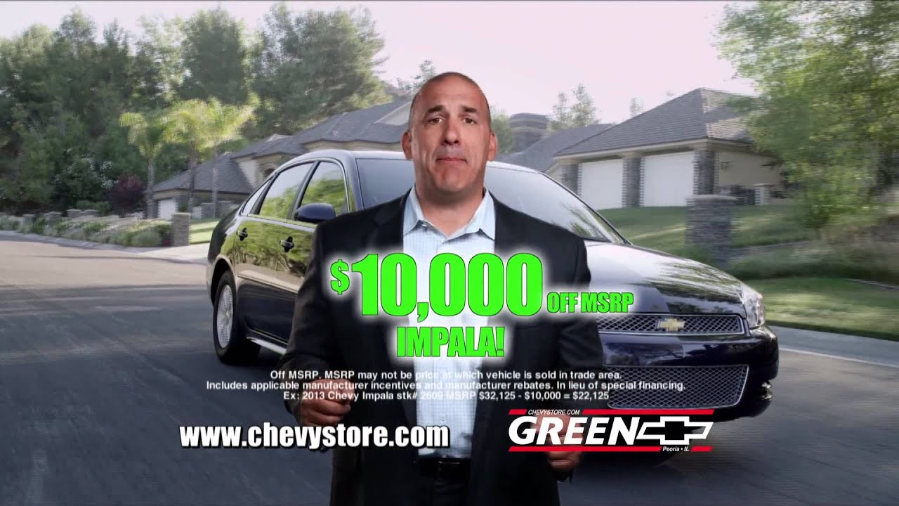 Green Chevy Peoria Il >> Green Chevrolet May 2013 Tv Ad Priced To Beat The Competition