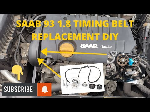HOW TO DIY timing belt replacement on SAAB 93