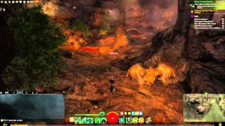 Guild Wars 2 Wildflame Caverns Vista