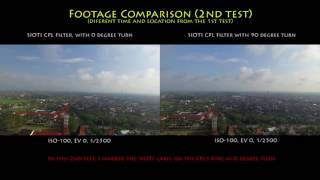 "Filter test : CPL ""SIOTI"" for Phantom 3 and 4."